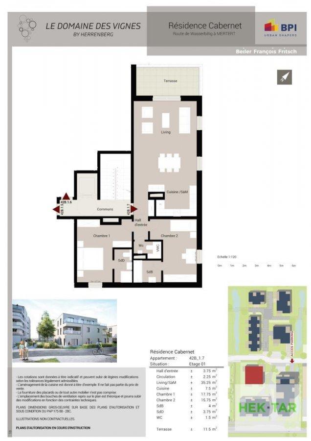 acheter appartement 3 chambres 113.93 m² mertert photo 3