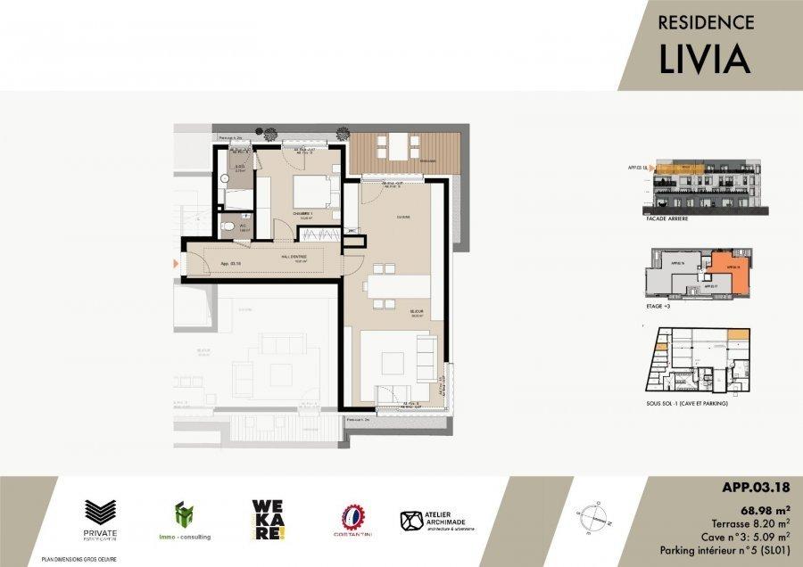 acheter penthouse 1 chambre 72.26 m² luxembourg photo 3
