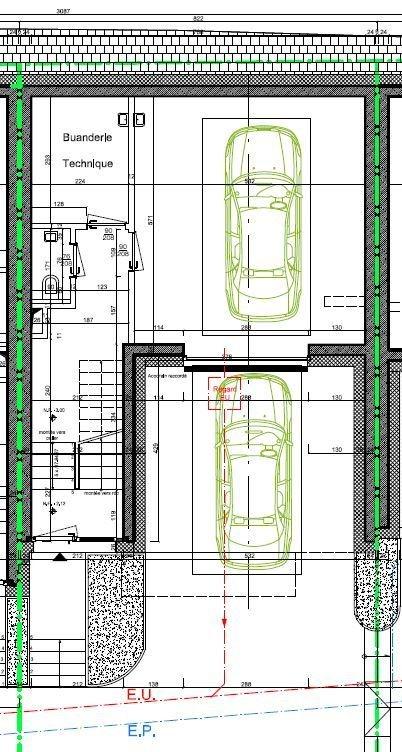 plan 3 maisons mitoyennes