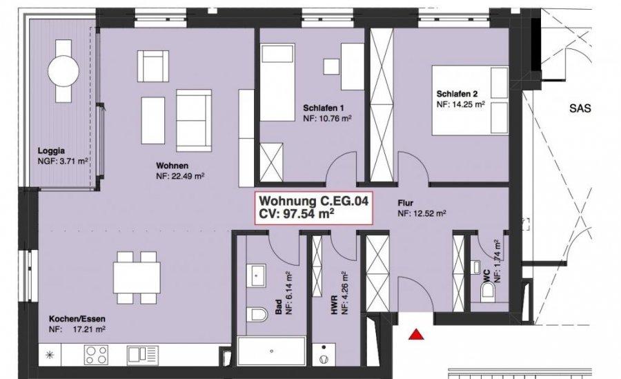 wohnung kaufen 2 schlafzimmer 97.54 m² wasserbillig foto 1