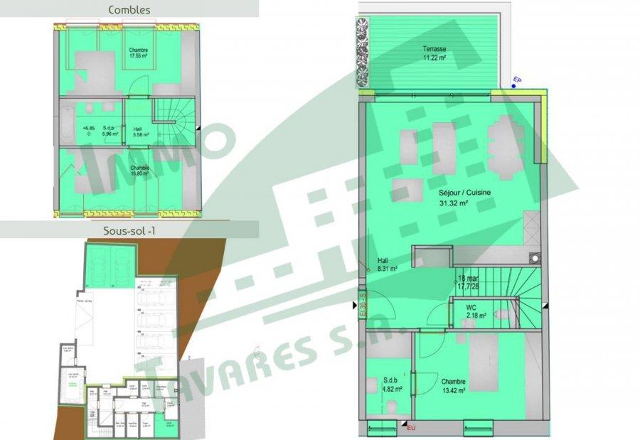 acheter appartement 3 chambres 116.65 m² noertzange photo 2