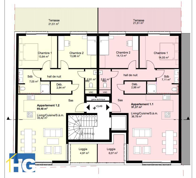 büro kaufen 0 schlafzimmer 93.73 m² diekirch foto 5