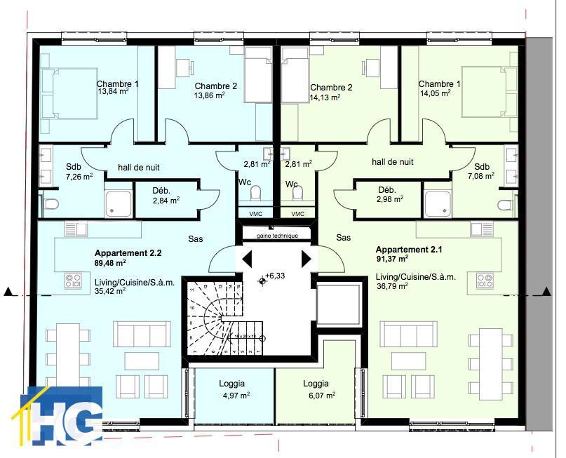 büro kaufen 0 schlafzimmer 93.73 m² diekirch foto 6