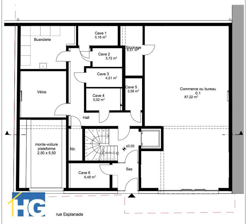 büro kaufen 0 schlafzimmer 93.73 m² diekirch foto 2