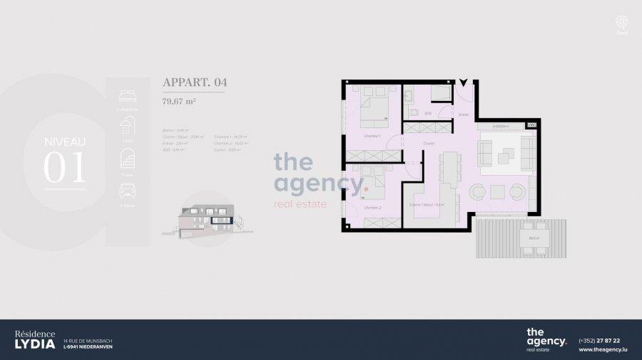 acheter appartement 2 chambres 79.67 m² niederanven photo 2