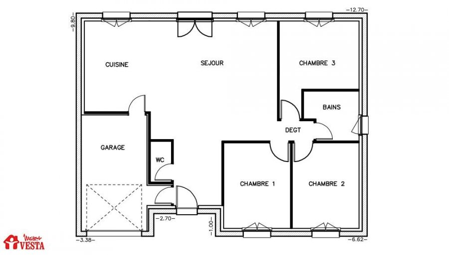acheter maison 4 pièces 90 m² pont-à-mousson photo 2