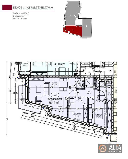 acheter appartement 2 chambres 65 m² rodange photo 3