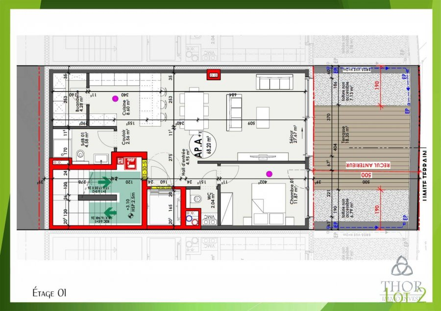 acheter appartement 1 chambre 68.2 m² luxembourg photo 3