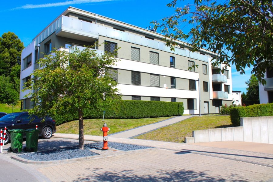 Immo Nordstrooss vous propose un appartement dans un quartier résidentiel à Steinsel d'une surface habitable de /- 92 m2.    Situation très centrale :  commerces, médecins, pharmacie, kiné, restaurants, mairie, écoles, arrêts bus et train, toutes à proximité.    L'Appartement se trouve à la 2ième étage avec ascenseur et se compose de suite :   - hall d'entrée,  - living,  - cuisine équipée,  - 2 chambres,  - salle de bain,  - WC séparée,  - loggia  - 12 m2    La cave, buanderie et le parking intérieur au 1ier sous-sol complètent le tous.    Pour plus de renseignements veuillez nous contacter au 691 450 317.