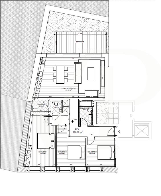 acheter appartement 3 chambres 106 m² useldange photo 3