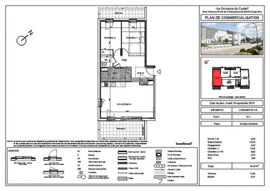 acheter appartement 3 pièces 66.15 m² carquefou photo 3