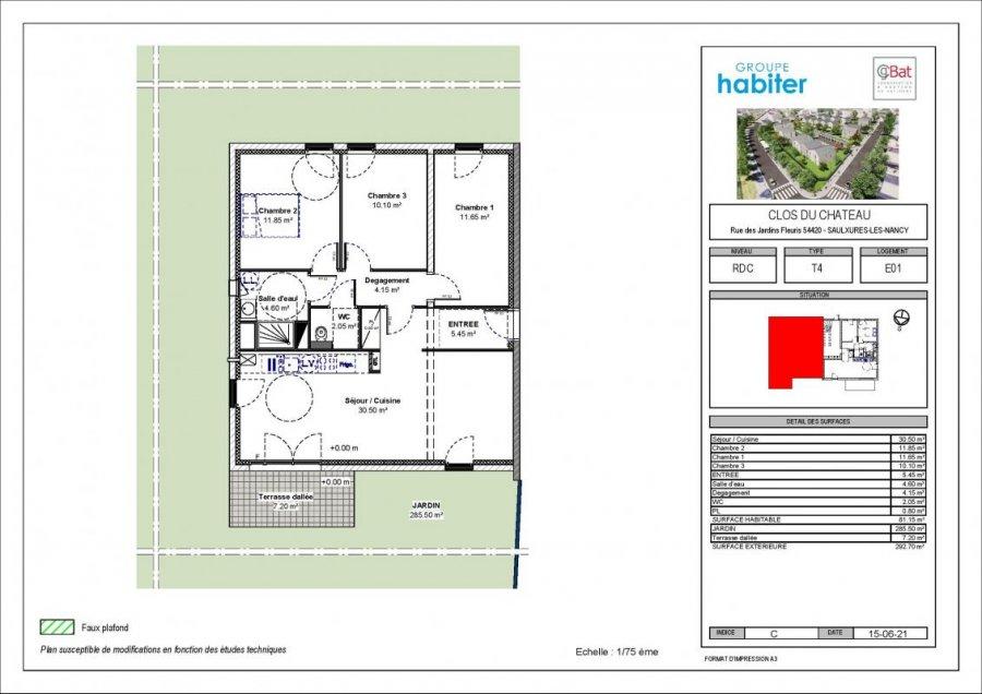 acheter appartement 4 pièces 81 m² saulxures-lès-nancy photo 1