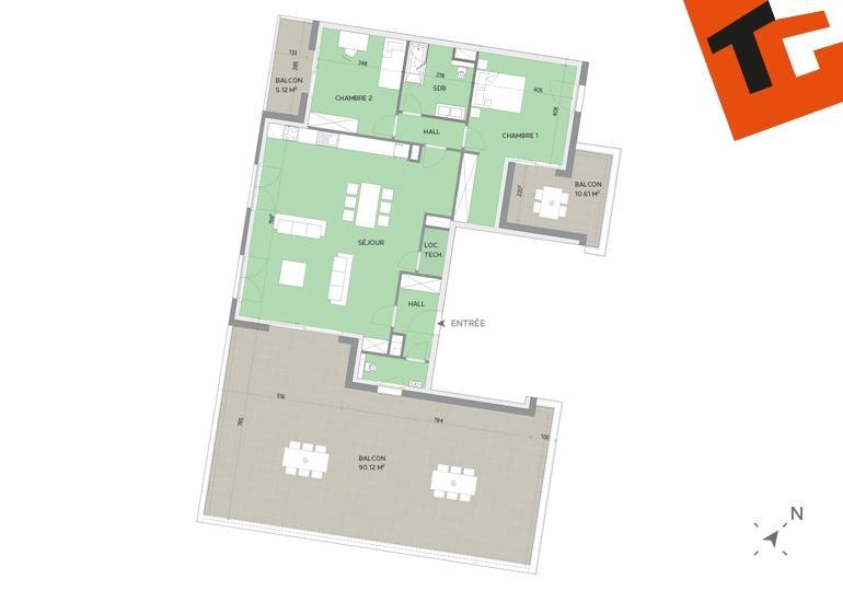 wohnung kaufen 2 schlafzimmer 114.96 m² howald foto 1