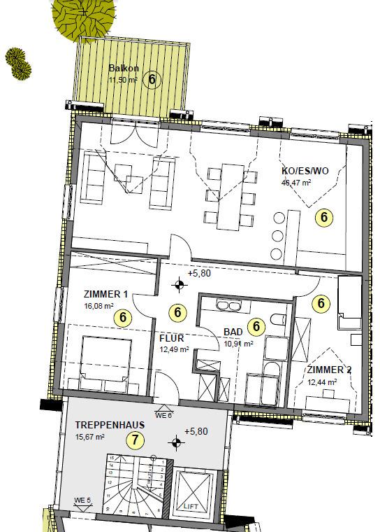 wohnung kaufen 5 zimmer 99 m² tawern foto 7