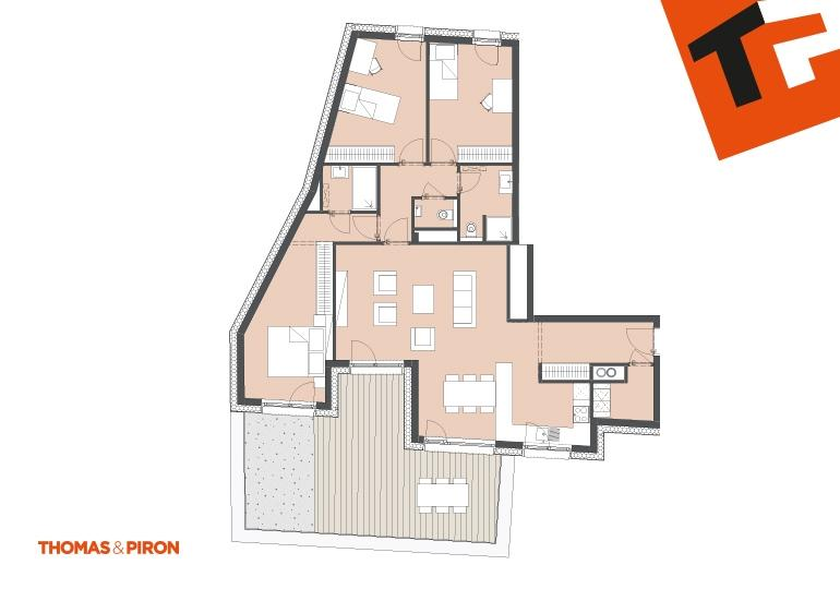 apartment for buy 3 bedrooms 112.07 m² schifflange photo 1