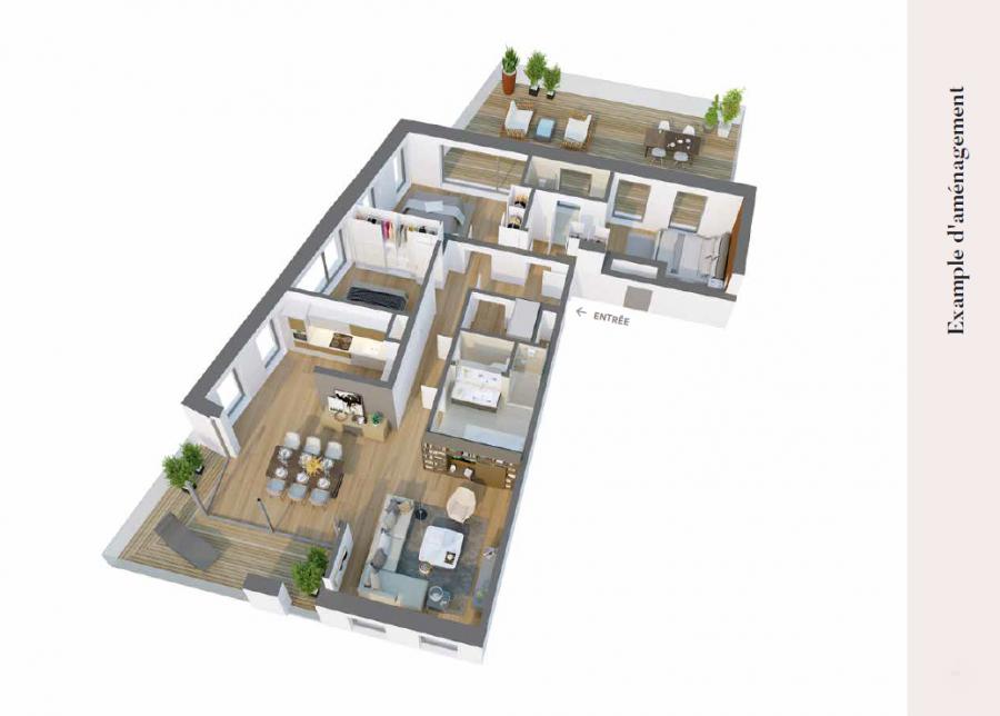 acheter appartement 3 chambres 102.23 m² esch-sur-alzette photo 2
