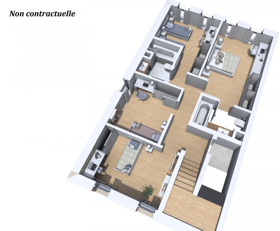 acheter duplex 4 chambres 154.93 m² hosingen photo 1