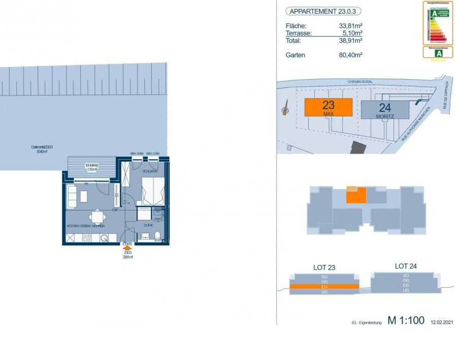acheter appartement 1 chambre 35.41 m² bertrange photo 4