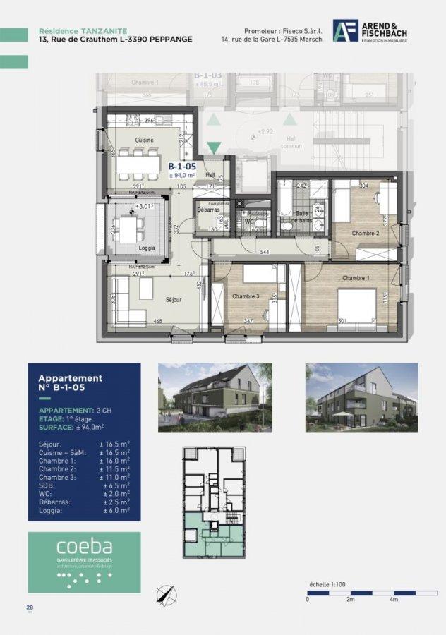 wohnung kaufen 3 schlafzimmer 94.21 m² peppange foto 4