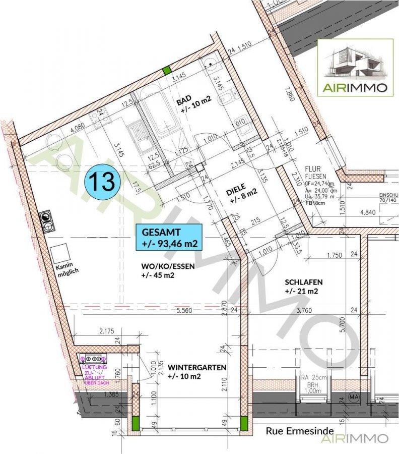 acheter appartement 1 chambre 96 m² echternach photo 2