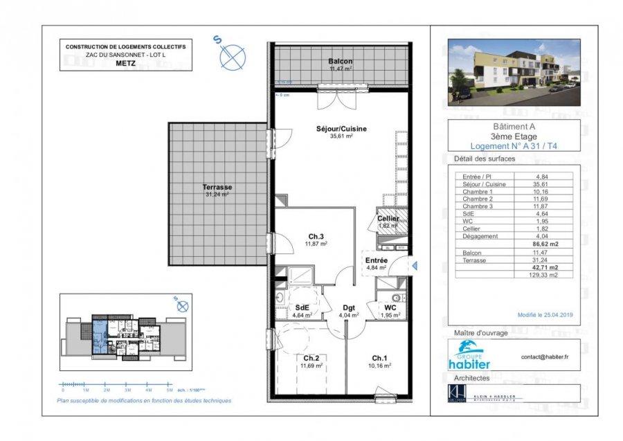 acheter appartement 4 pièces 86 m² metz photo 1
