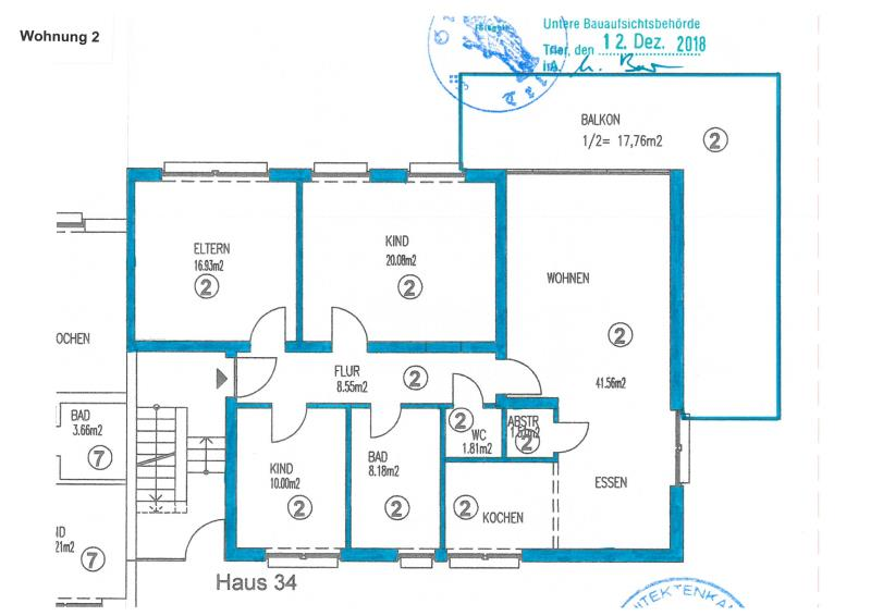 apartment for buy 5 rooms 125.8 m² trier photo 7