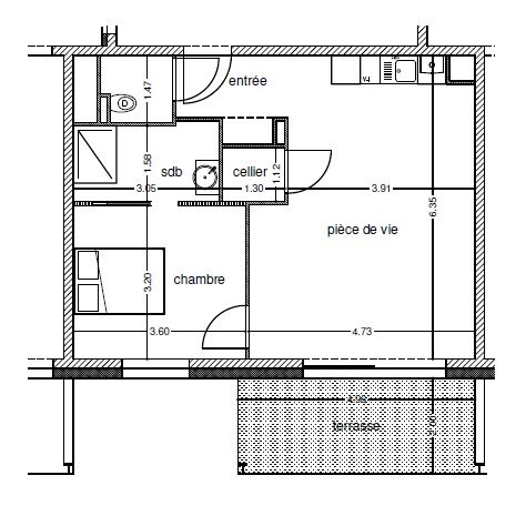 acheter appartement 2 pièces 50.63 m² crusnes photo 1