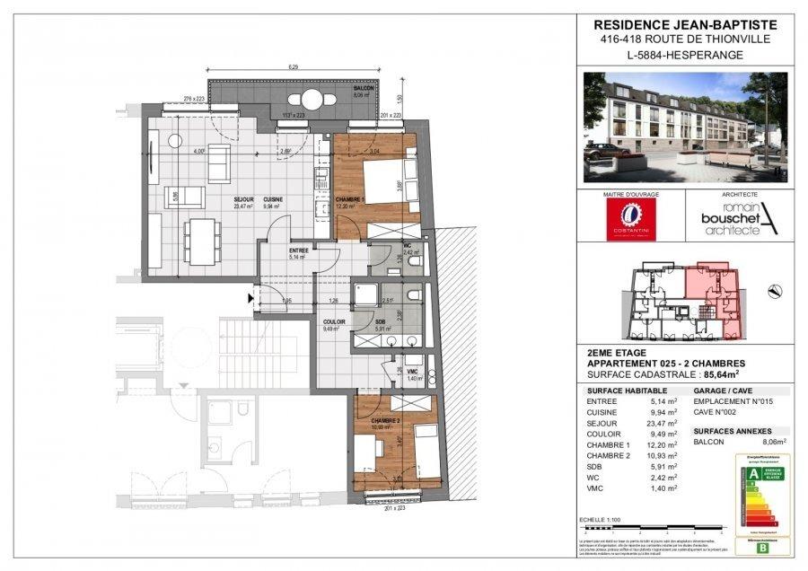 apartment for buy 2 bedrooms 88.86 m² hesperange photo 3
