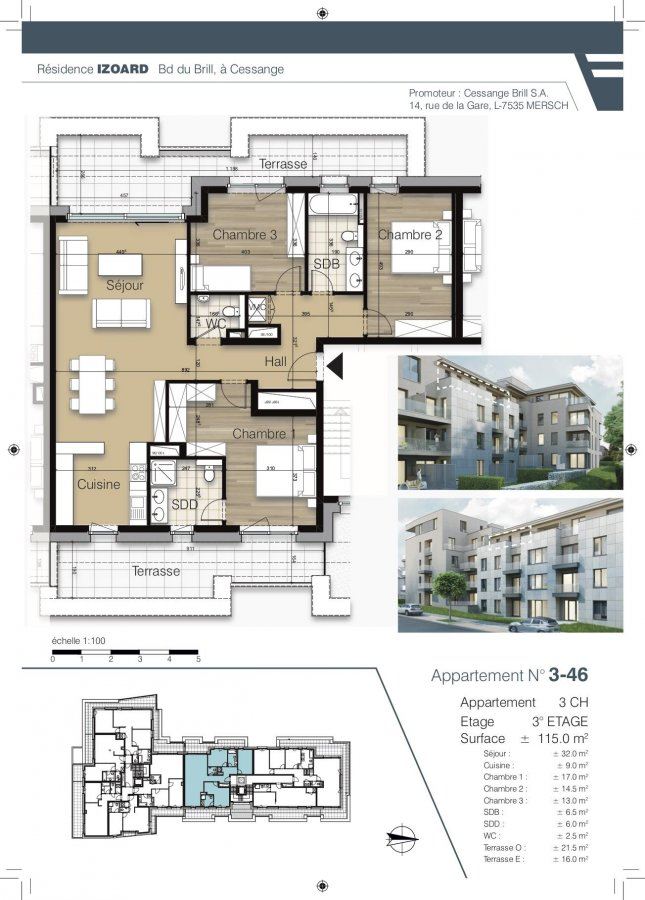 acheter appartement 3 chambres 114.8 m² luxembourg photo 1