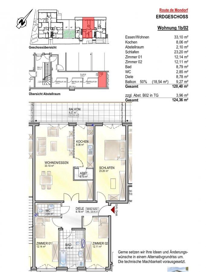 wohnung kaufen 3 schlafzimmer 120.4 m² remich foto 2
