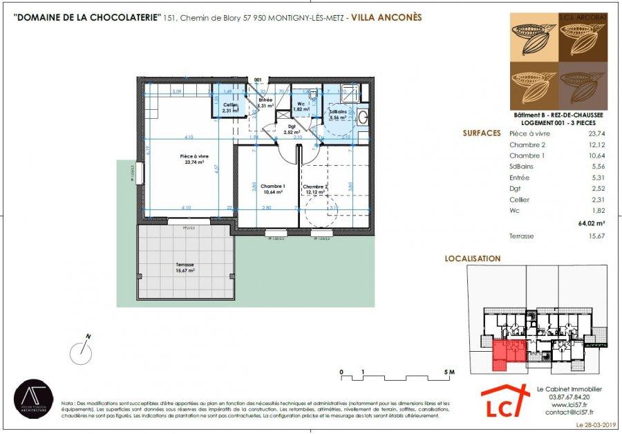 acheter appartement 3 pièces 64.02 m² montigny-lès-metz photo 4