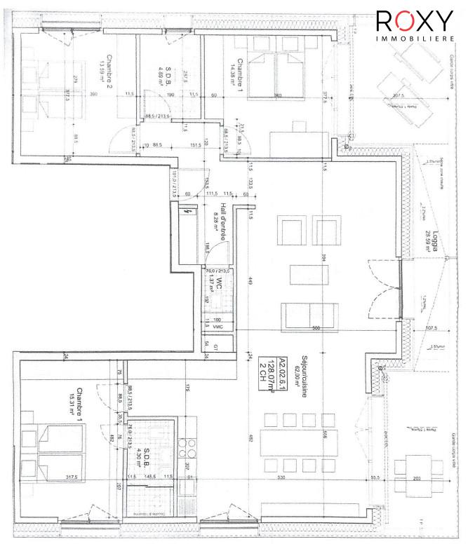 louer penthouse 3 chambres 128 m² luxembourg photo 2