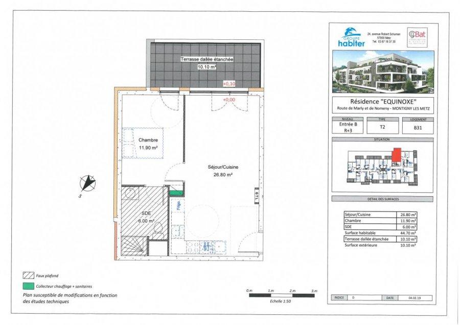 acheter appartement 2 pièces 44 m² montigny-lès-metz photo 1