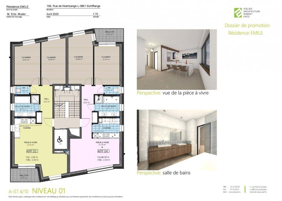 acheter appartement 2 chambres 70 m² schifflange photo 4
