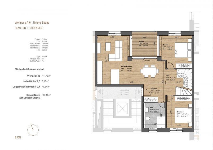 acheter penthouse 3 chambres 156 m² michelau photo 3
