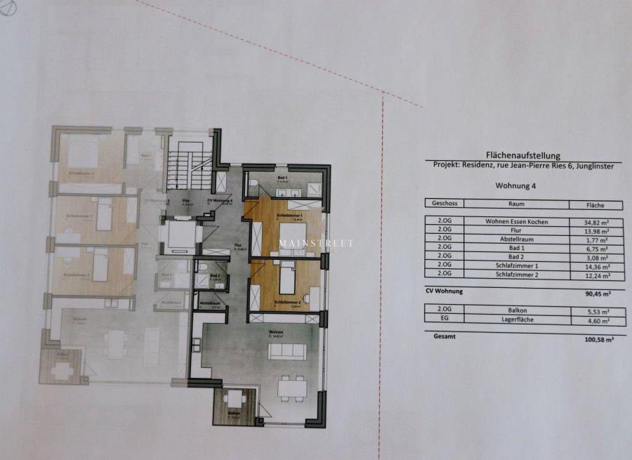 acheter appartement 2 chambres 100 m² junglinster photo 3