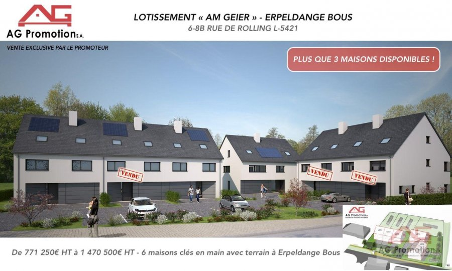 housing project for buy 0 bedroom 181.9 to 311.78 m² erpeldange (bous) photo 1