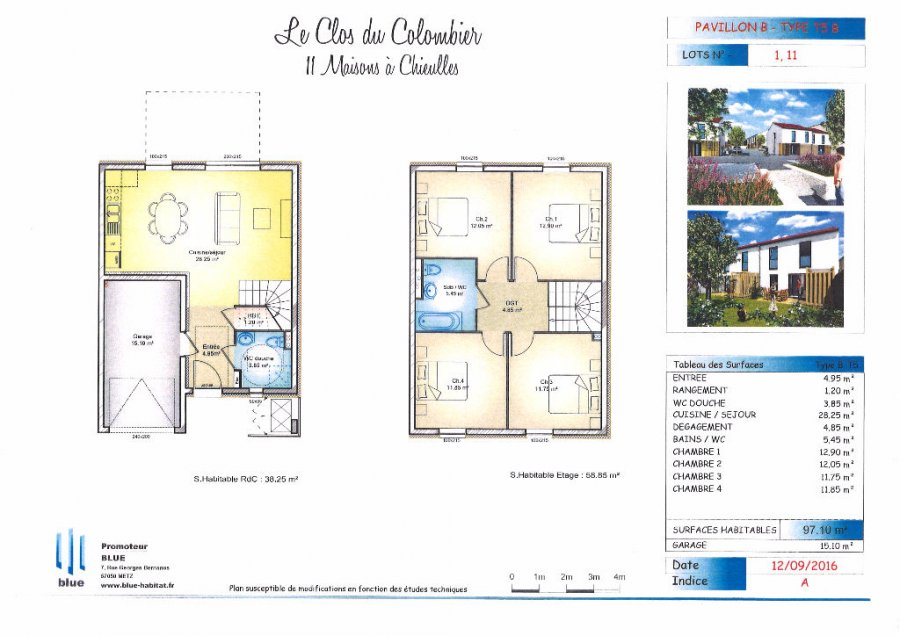 acheter maison 4 pièces 92.35 m² chieulles photo 4