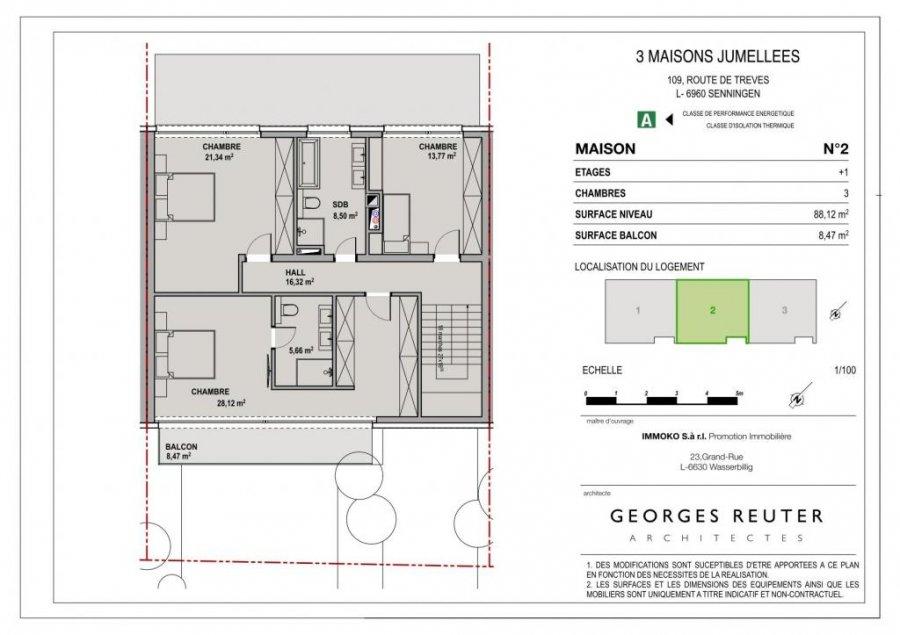 acheter maison jumelée 3 chambres 192 m² senningen photo 4