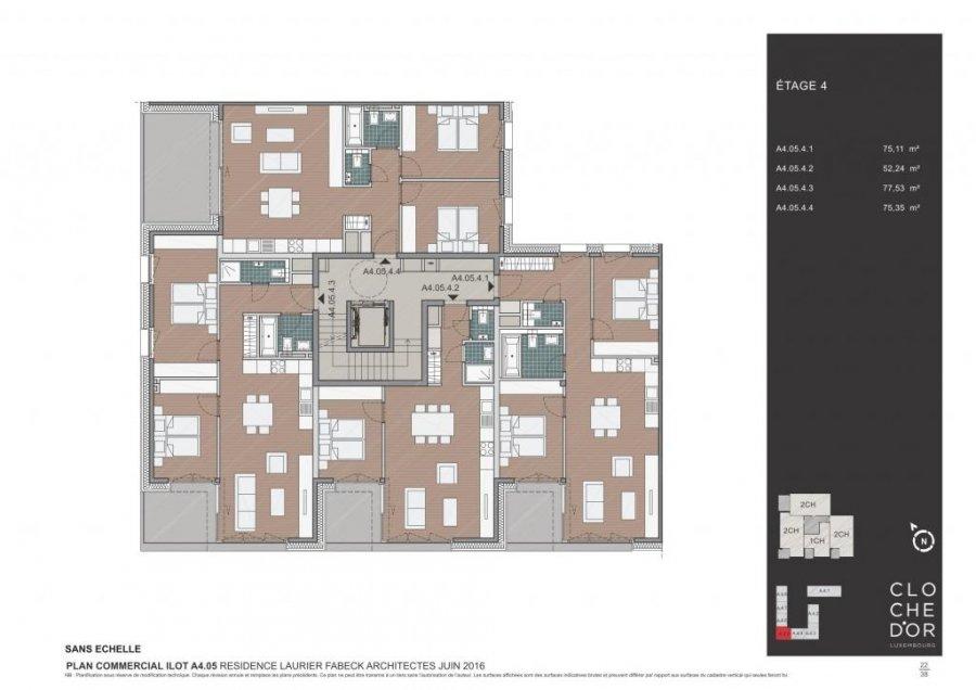 acheter résidence 0 chambre 78.37 à 89.58 m² luxembourg photo 7