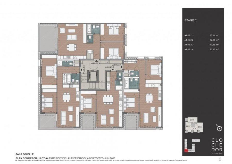 acheter résidence 0 chambre 78.37 à 89.58 m² luxembourg photo 5