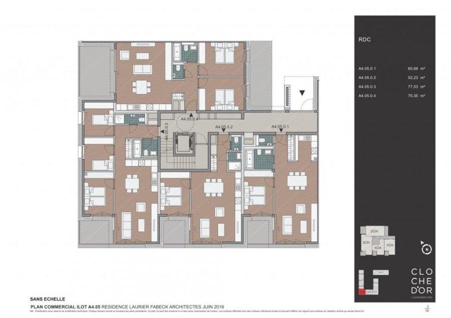 acheter résidence 0 chambre 78.37 à 89.58 m² luxembourg photo 3