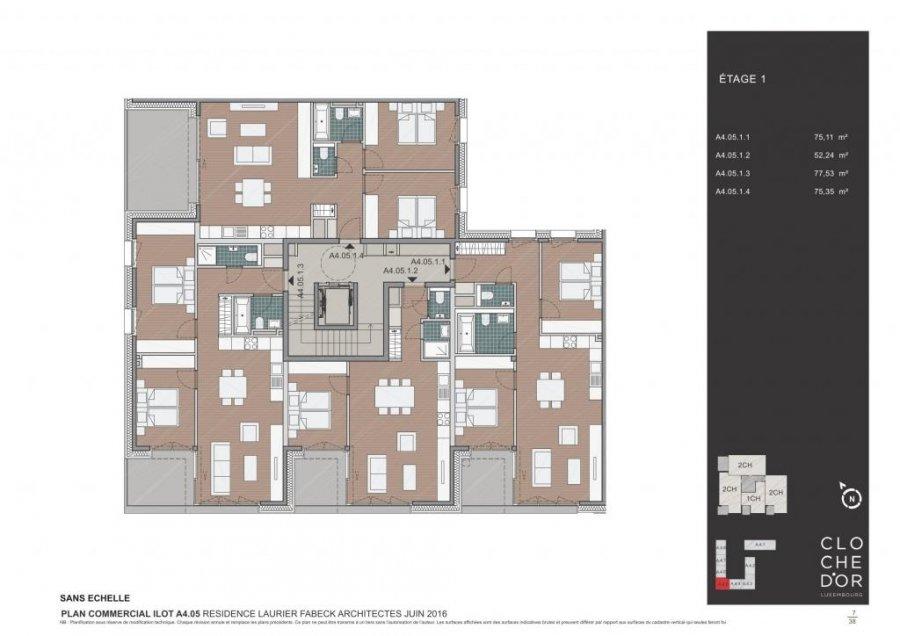 acheter résidence 0 chambre 78.37 à 89.58 m² luxembourg photo 4
