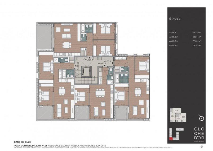 acheter résidence 0 chambre 78.37 à 89.58 m² luxembourg photo 6