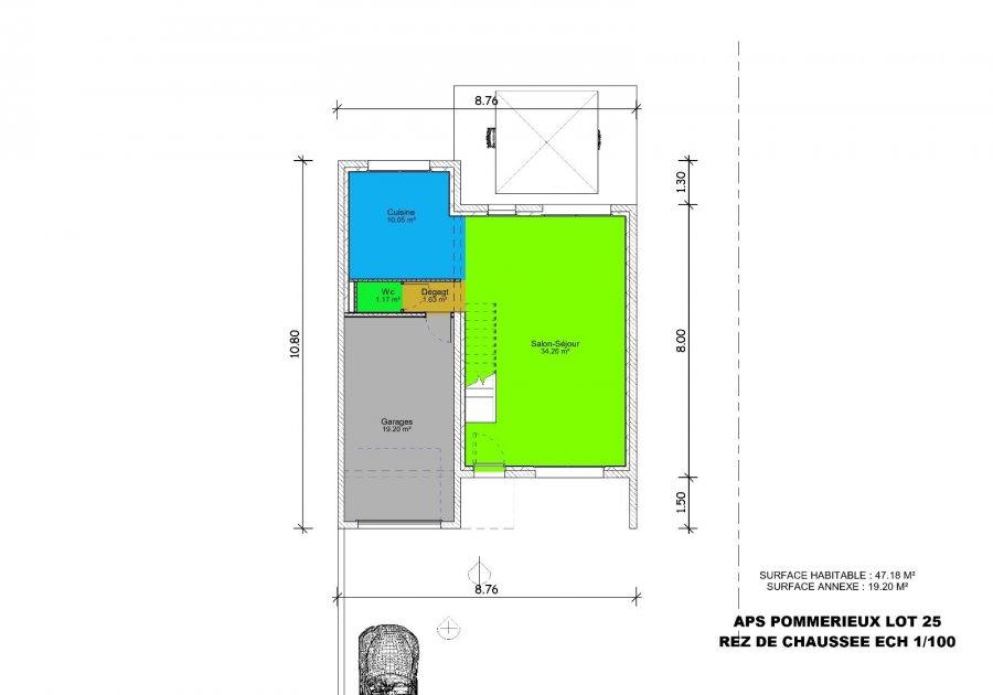 acheter maison individuelle 5 pièces 101.45 m² pommérieux photo 4
