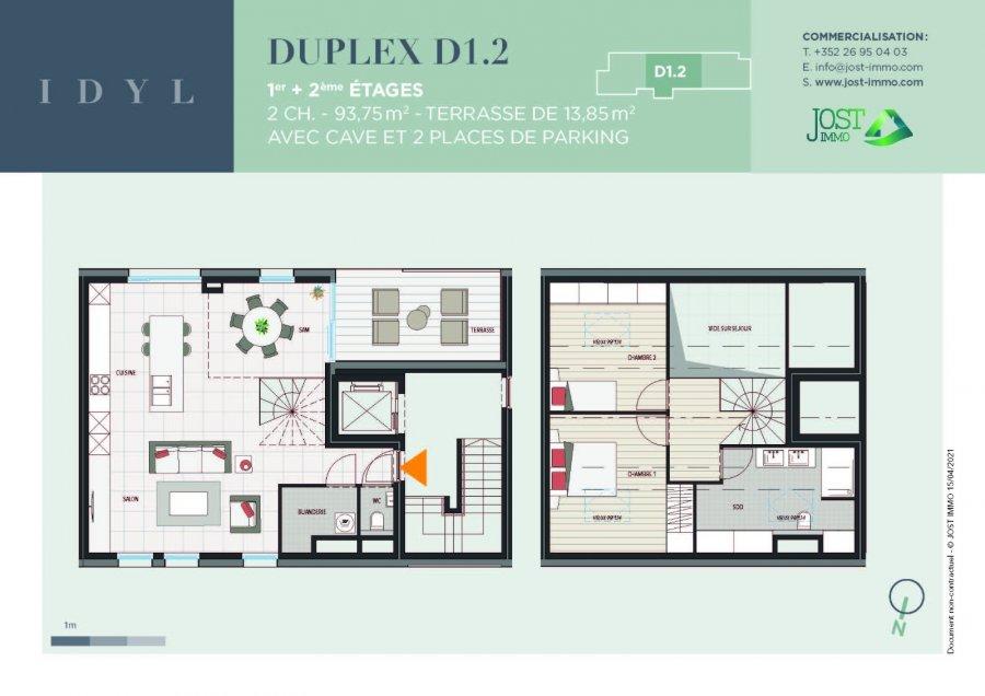 acheter duplex 2 chambres 93.75 m² petit-nobressart photo 2