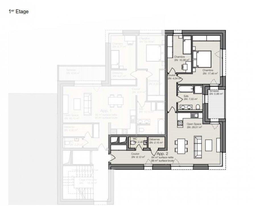 acheter appartement 2 chambres 85.61 m² differdange photo 3