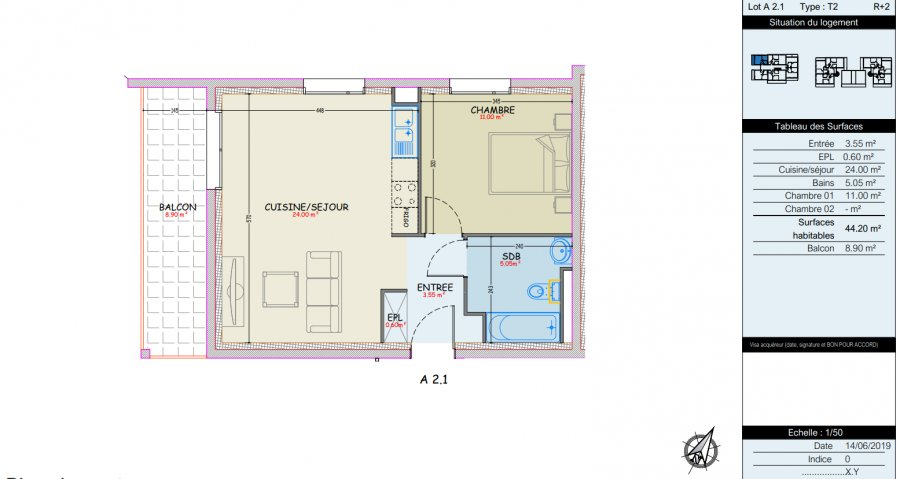 apartment for buy 2 rooms 44.3 m² woippy photo 3