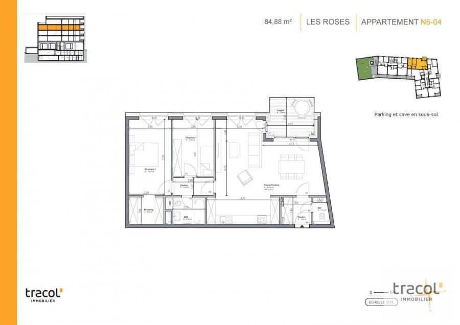 acheter appartement 2 chambres 84.88 m² niederkorn photo 2