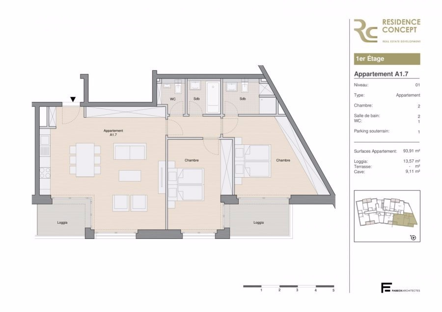 acheter appartement 2 chambres 108 m² luxembourg photo 3